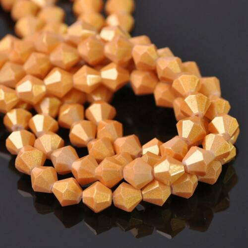100pcs 6mm Bicone Faceted Crystal Glass Loose Spacer Beads lot Jewelry Making