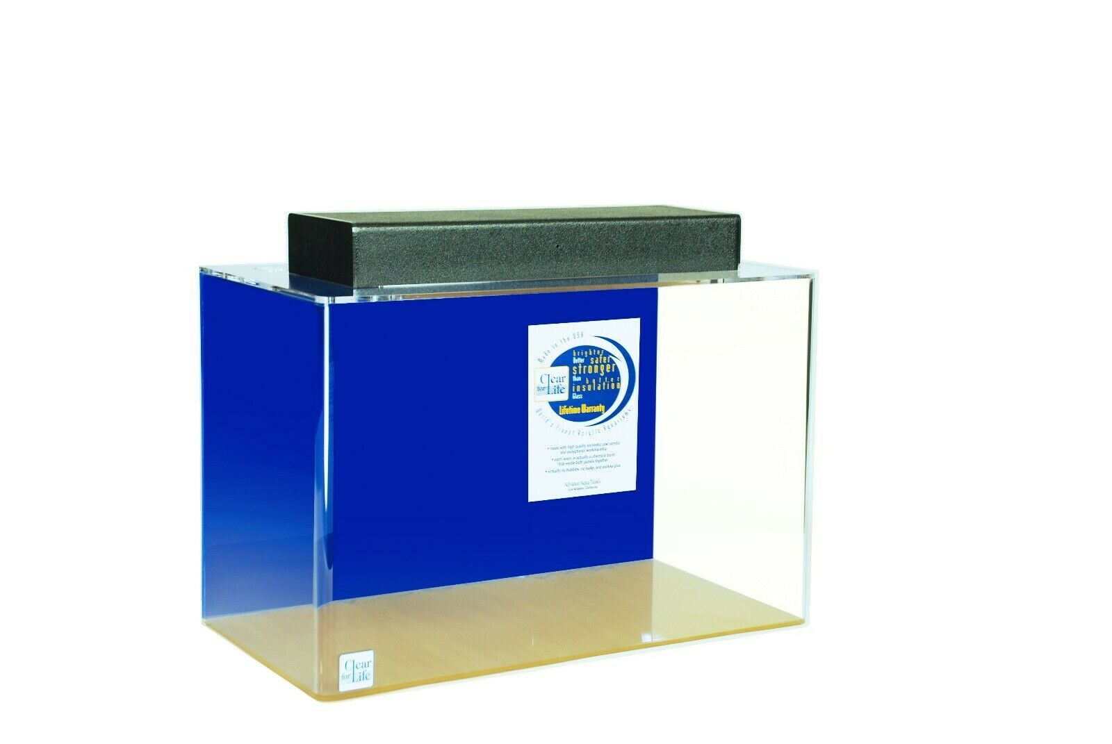 Aquarium - Acrylic - Rectangular - 20 Gal Rectangular Tank 24  X 13  X 16  TALL