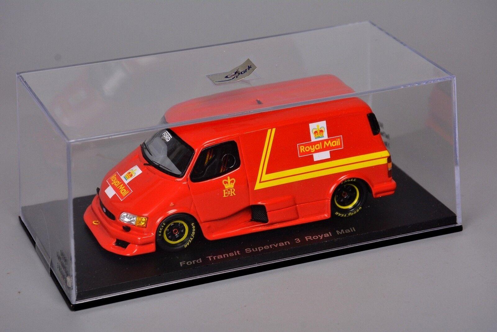 R&L Diecast  Ford Transit Supervan 3 in Royal Mail Livery, Spark, (Mk4 Mk5)