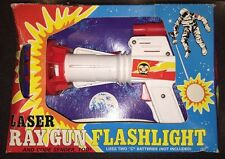 RARE vintage Tim Mee toys Laser RAY GUN Flashlight pistol raygun SEALED mib 70's