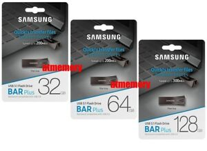 Samsung-32GB-64GB-128GB-256GB-USB-Flash-Drive-BAR-Plus-USB3-1-Up-to-200MB-s-BE4