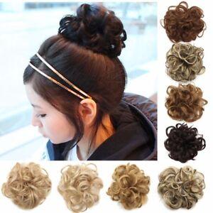 Femme-Chouchou-Cheveux-Perruque-Boucle-Extension-Chignon-Bandeau-Donut-Postiche