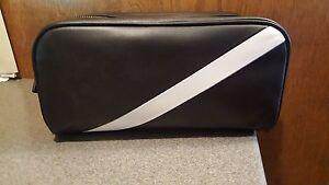 d5222b4b652 NWT POLO Ralph Lauren Toiletry Bag Shaving Kit BLACK LEATHER Dopp ...