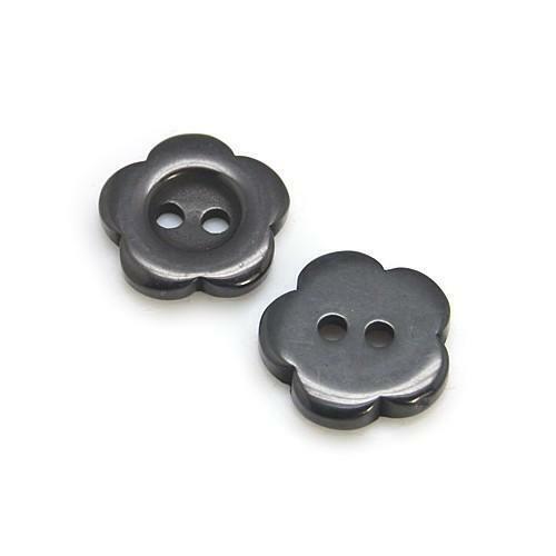Negro Botones de Flor de Resina 15mm Coser en 2 agujeros 20 Piezas Coser fabricación de joyas