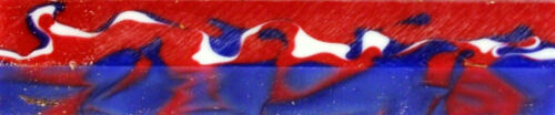 """1 pc Old Glory Red White Blue Acrylic Acetate Pen Blank 3//4/"""" x 5/"""" Blanks"""