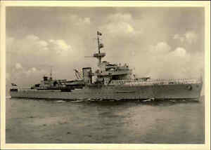 Militaer-Kriegsmarine-1940-Artillerie-Schulschiff-Schlachtschiff-BRUMMER-War-Ship