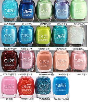 Korean Cosmetics Olivedeco Nail Polish Manicure Multi-Color 13 ml No.600 ~ 1612