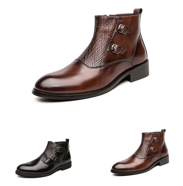 38-44 Herrenschuhe Ankle Stiefel Formell Reißverschluss Formell Business Spitz Neu