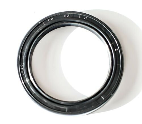 Oil and Grease Seal TC 60X80X8 Rubber Double Lip with Spring 60mmX80mmX8mm.