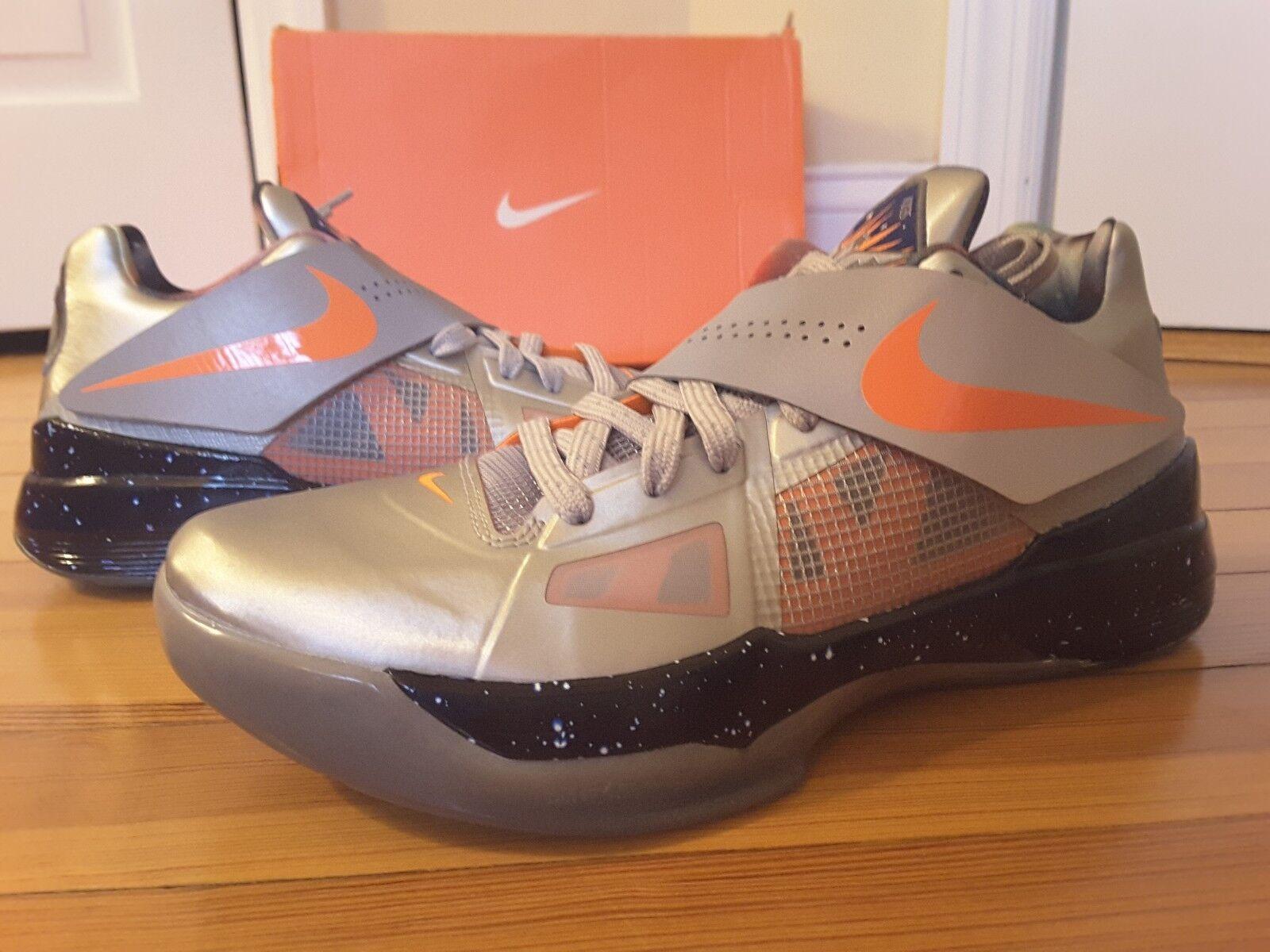 New Nike KD IV 4 Galaxy All Star 520814 001 Silver orange Glow In The Dark AS