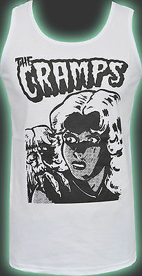 MENS FITTED VEST TANK THE CRAMPS BAD MUSIC PSYCHOBILLY GARAGE LUX INTERIOR S-5XL