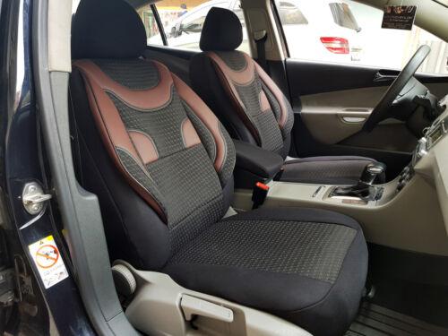 Sitzbezüge Autositzbezüge für BMW X3 schwarz-rot V357990 Vordersitze