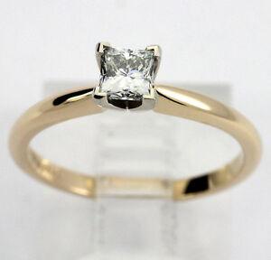 e82b1b768758 La imagen se está cargando Nuevo-Anillo-de-Compromiso-Diamante -Solitario-14k-Oro-