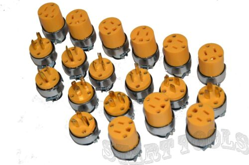 24-pc mâle /& femelle Extension Cord Replacement Electrical Plugs 15AMP 125 V Fin