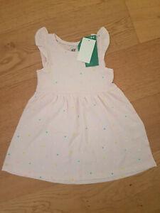 GroßZüGig Mädchenkleid Kleid Rosa 110/116 H&m Neu