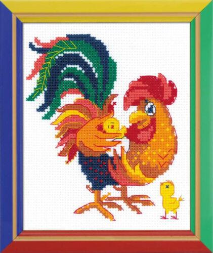 RIOLIS  HB151  Daddy/'s Kids  Point de Croix  Compté  facile  pour débutant