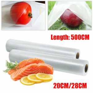 UK~ 5 M Roll Textured Vacuum Food Sealer Vac DIY Sealer Bags Saver Seal Storage