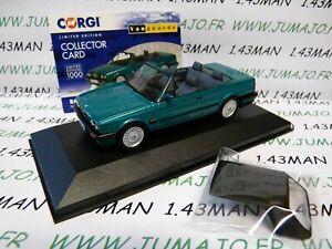 voiture-1-43-CORGI-VANGUARDS-BMW-E30-318i-Convertible-Verte
