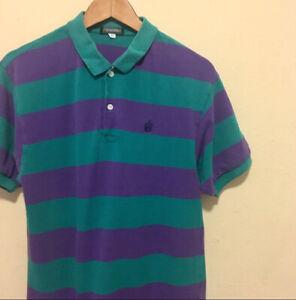 Vintage Short Sleeve Striped Polo Shirt