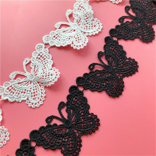 Trim Ribbon DIY Craft Butterfly Lace Edge Vintage Sewing Wedding 2Yds Applique