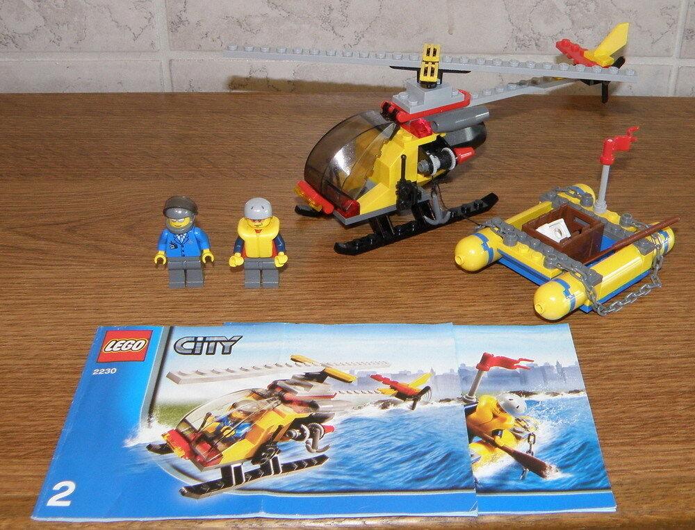 Lego City 2230 Rafting-Floß mit Helicopter mit allen Figuren und Anleitung TOP