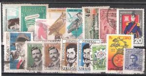 URUGUAY Conjunto de 16 sellos usados diferentes - España - URUGUAY Conjunto de 16 sellos usados diferentes - España