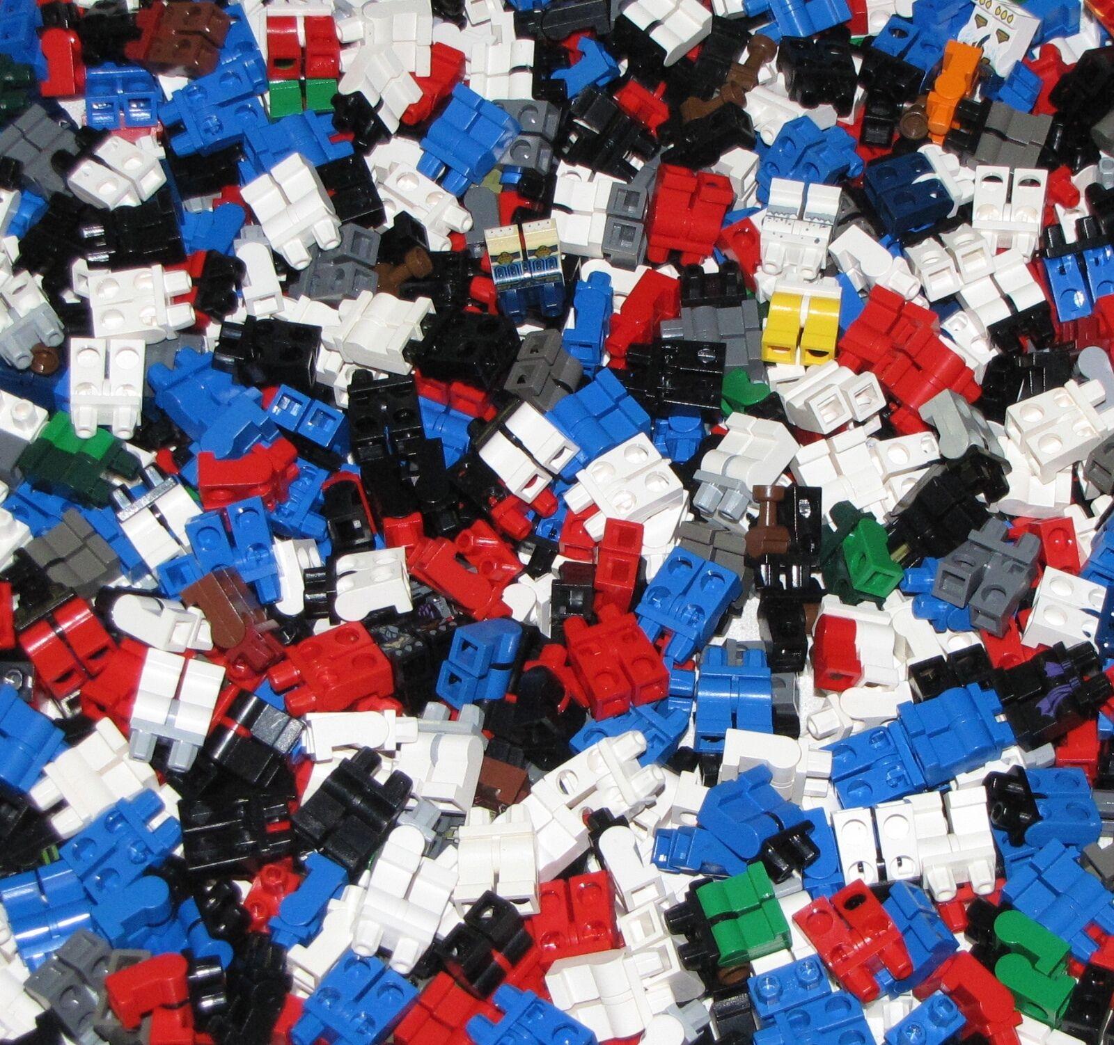 Lego Lote a granel de 500 Pantalones De Piernas Minifigura Minifigura ciudad ciudad figura partes del cuerpo