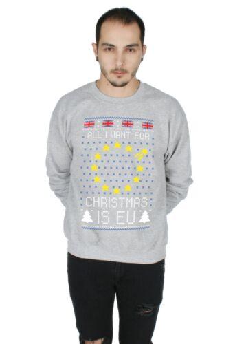 EU Christmas Sweater Top Jumper Sweatshirt Xmas Ugly Brexit Brexmas UK Campaign