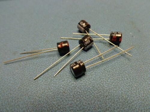 5 PANASONIC 47uf 10V 85° Radial Electrolytic Capacitor USA SELLER
