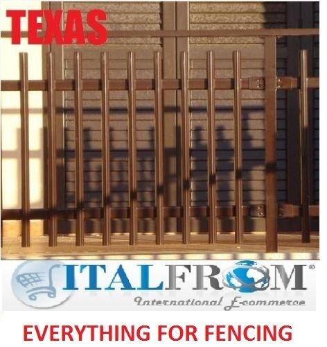Panel de valla Barandilla De Hierro Galvanizado panel estándar Texas