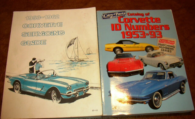 Corvette Service Book Manual 1953 1954 1955 1956 1957 1958 1959 1960 1961 1962