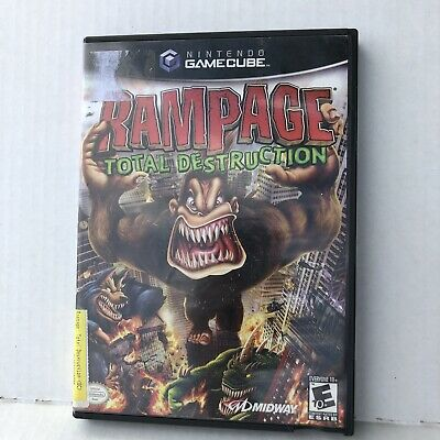 Rampage Total Destruction Nintendo Gamecube 2006 No Manual