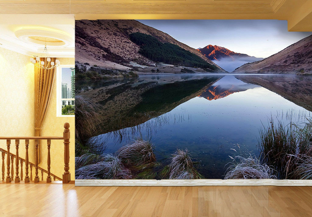 3D Mountain Lake Scenery 46 Wall Paper Wall Print Decal Wall Deco Indoor Mural