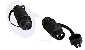 3 poliger stecker anh nger stecker traktor stecker din 9680 ebay. Black Bedroom Furniture Sets. Home Design Ideas