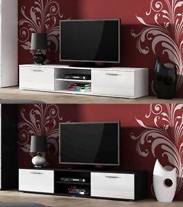Image Is Loading Bmf Soho Modern Tv Stand Black White 180cm