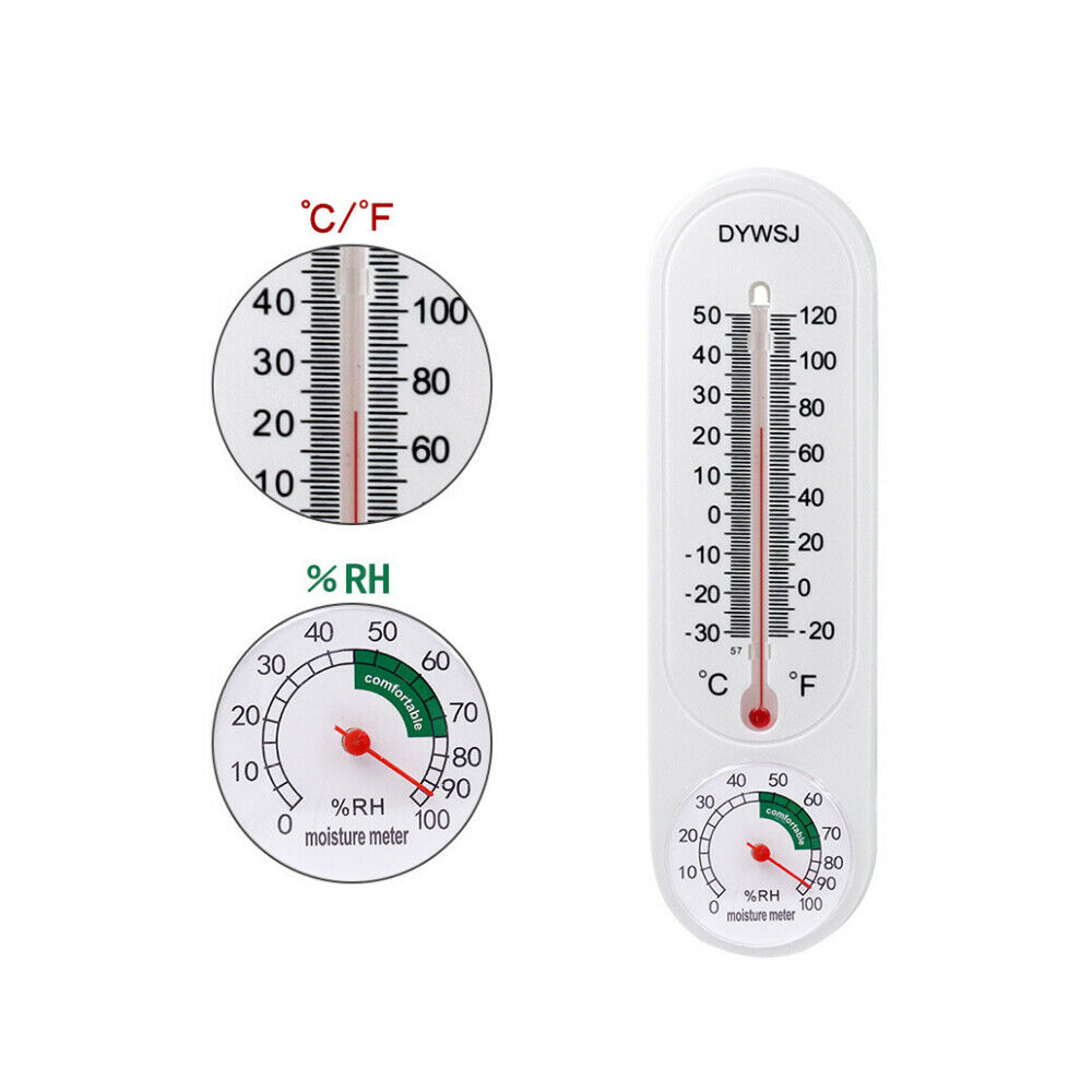 Wall Thermometer Indoor Outdoor Mount Garden Greenhouse Home Humidity Meter ch