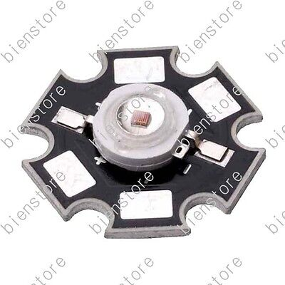 50pcs Plant Grow 1W Deep Red 660nm with 20mm Star Base LED Light Emitter Light