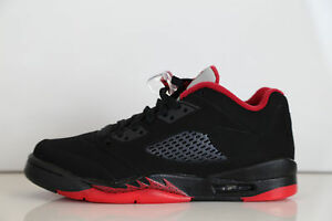 san francisco b22a9 27661 Image is loading Nike-Air-Jordan-Retro-5-Low-Black-Gym-