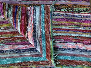 Details About Hand Loomed Vintage Rag Rug Large Carpet Runner Area 4x6 Oriental Throw