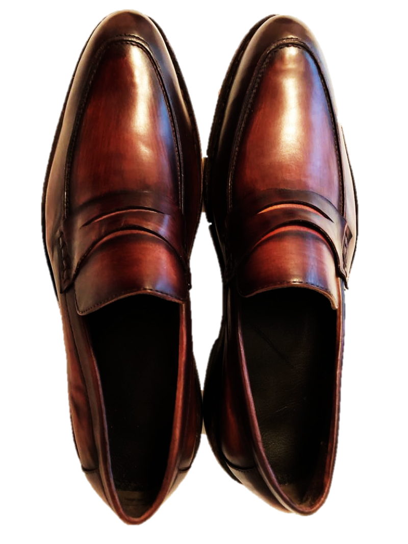caldo Uomo Dress scarpe Penny Loafer Goodyear Handcrafted Patina argentoinian Leather Leather Leather  risparmia fino al 70%