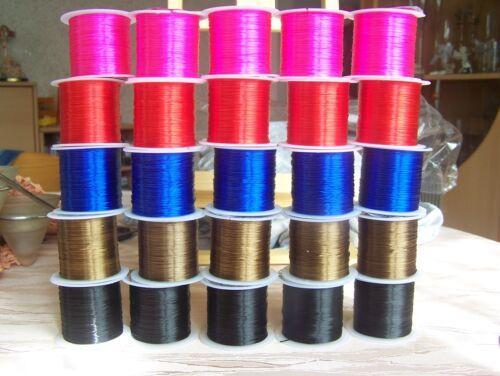 Nylon Bande Élastique Force 0,8 mm Bande élastique extra fort Bracelet Caoutchouc fil de 1 €//M