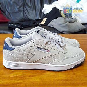 Reebok-Classic-Club-MEMT-Memory-Tech-Foam-Grey-Navy-Blue-CM9206-sz-11-5-Tennis