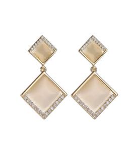 Elegante Ohrringe beige für Frauen Modeschmuck NEUWARE