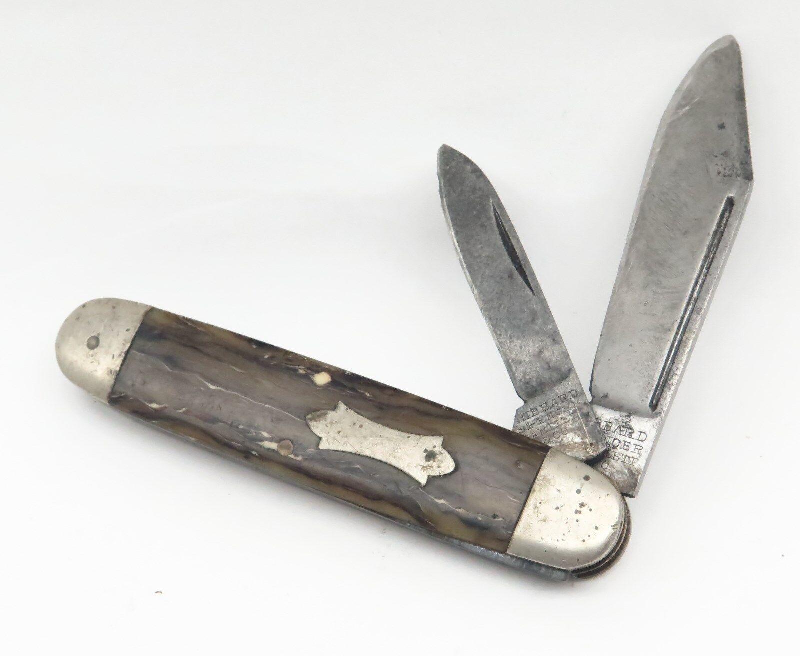 Hibbard Spencer Bartlett & Co 9761 Celluloid 2 Blade Equal End Jack Pocket Knife
