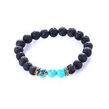 Chakra Lava Stone Healing Balance Beads Bracelet Reiki Buddha Prayer Natural