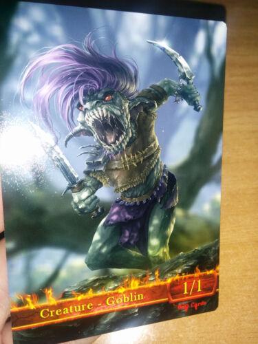 for Goblin Rabblemaster Khans of Tarkir 3x Goblin #3 Custom Altered Tokens MTG
