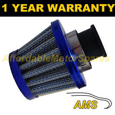 12mm AIR OIL CRANK CASE BREATHER FILTER FITS MOST VEHICLES BLUE CONE