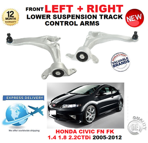 FOR HONDA CIVIC HATCHBACK 2005-2012 FRONT LOWER LEFT RIGHT TRACK CONTROL ARMS