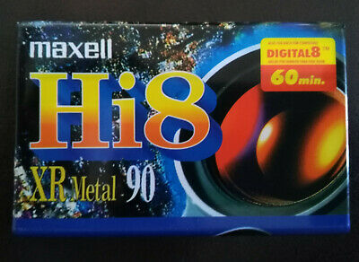 Une CASSETTE K7 HI8 MAXELL XR METAL CAMESCOPE   60 MINUTES  neuf