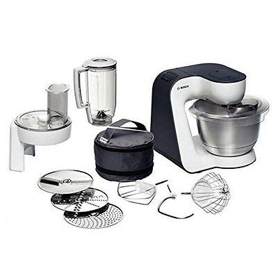 Bosch MUM Styline 52120 Küchenmaschine 700 Watt Küchenhelfer, Weiß Anthrazit
